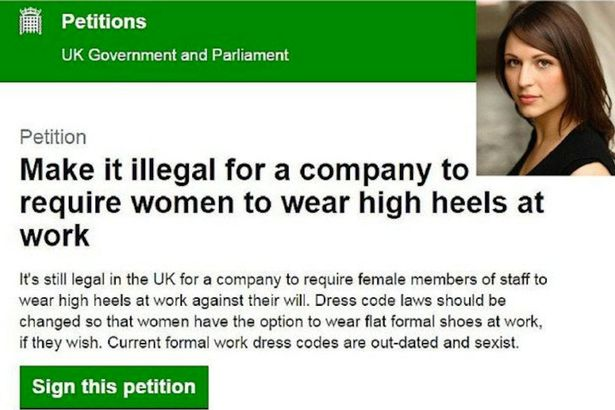 mps say lax laws on sexist dress codes are failing female employees - outsourced hr - hr revolution